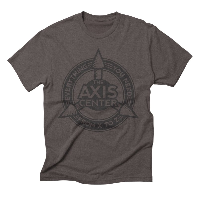 The Axis Center Men's Triblend T-shirt by Teeframed
