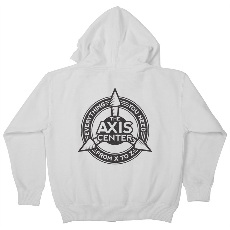 The Axis Center Kids Zip-Up Hoody by Teeframed