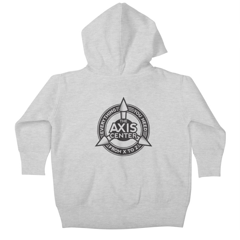 The Axis Center Kids Baby Zip-Up Hoody by Teeframed