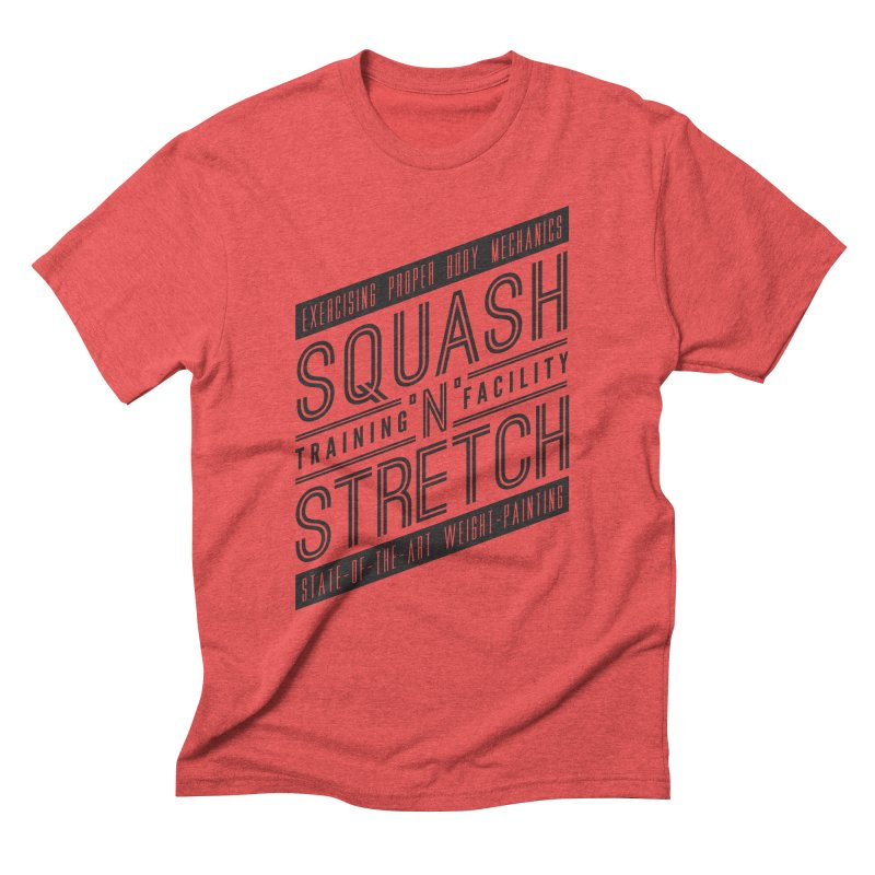 Squash 'n' Stretch in Men's Triblend T-shirt Chili Red by Teeframed