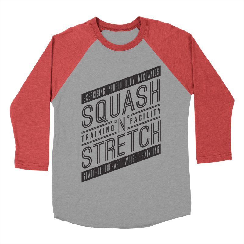 Squash 'n' Stretch Men's Baseball Triblend T-Shirt by Teeframed