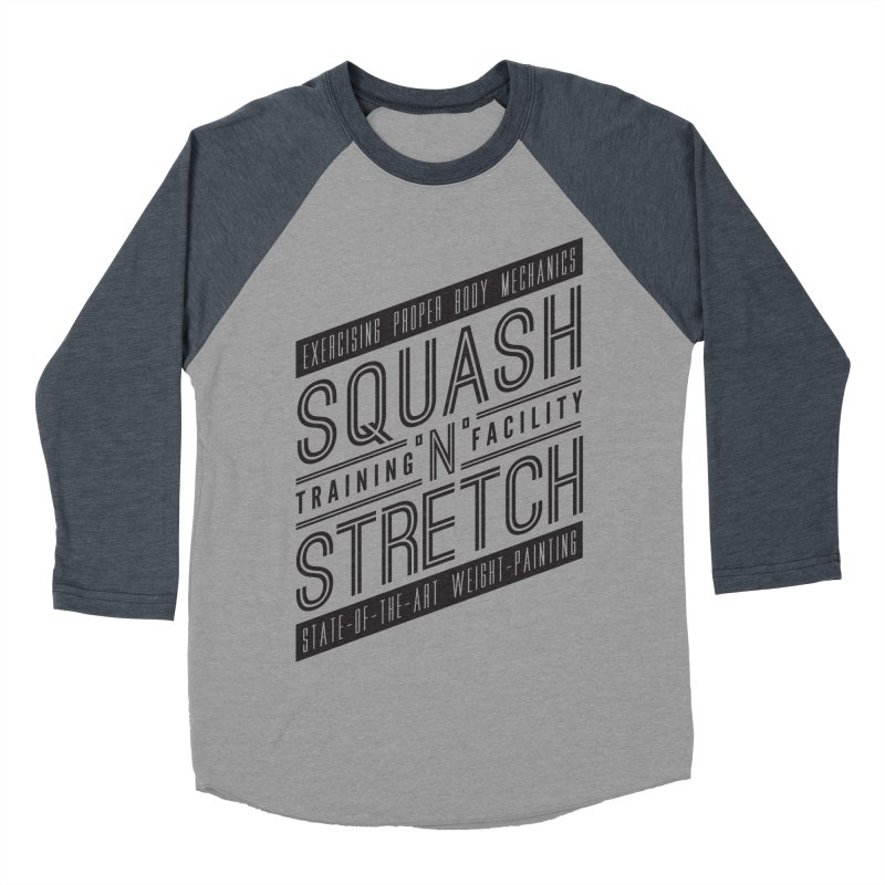 Squash 'n' Stretch Men's Baseball Triblend T-Shirt by Teeframed