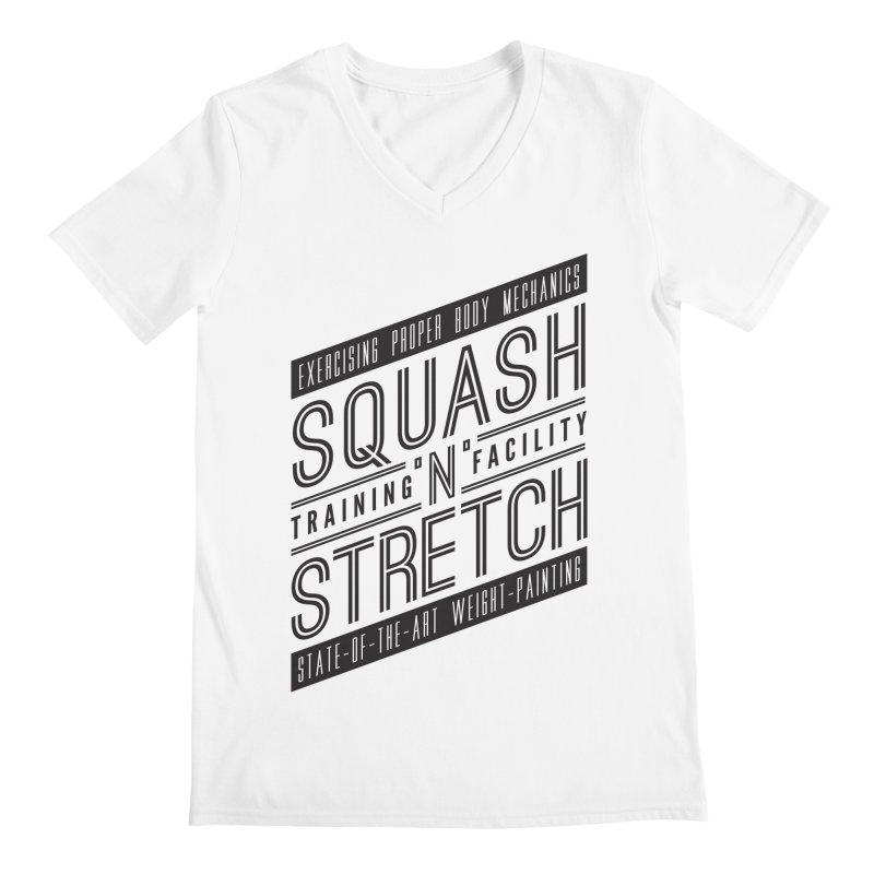 Squash 'n' Stretch Men's V-Neck by Teeframed