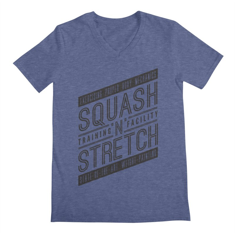 Squash 'n' Stretch Men's V-Neck by Teeframed