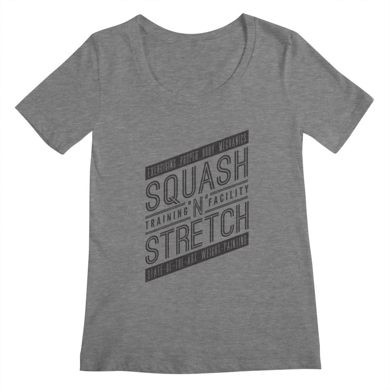 Squash 'n' Stretch Women's Scoopneck by Teeframed
