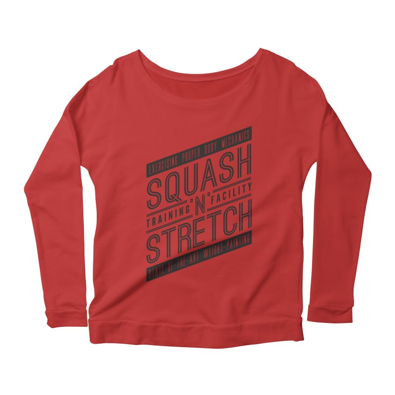 Squash 'n' Stretch Women's Longsleeve Scoopneck  by Teeframed