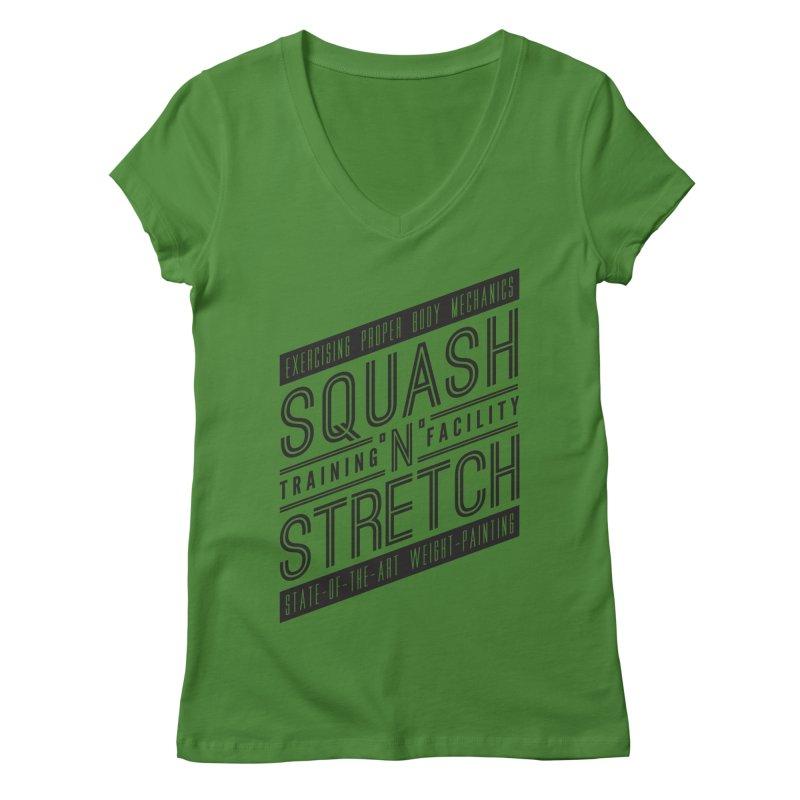 Squash 'n' Stretch Women's V-Neck by Teeframed