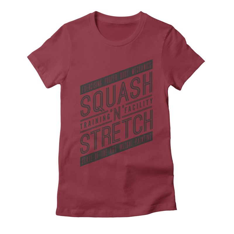 Squash 'n' Stretch Women's Fitted T-Shirt by Teeframed