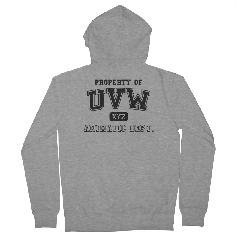 Property of UVW Men's Zip-Up Hoody by Teeframed