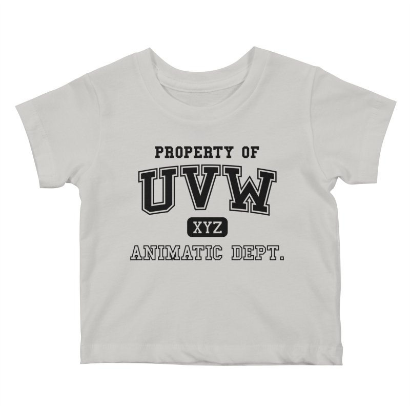 Property of UVW Kids Baby T-Shirt by Teeframed