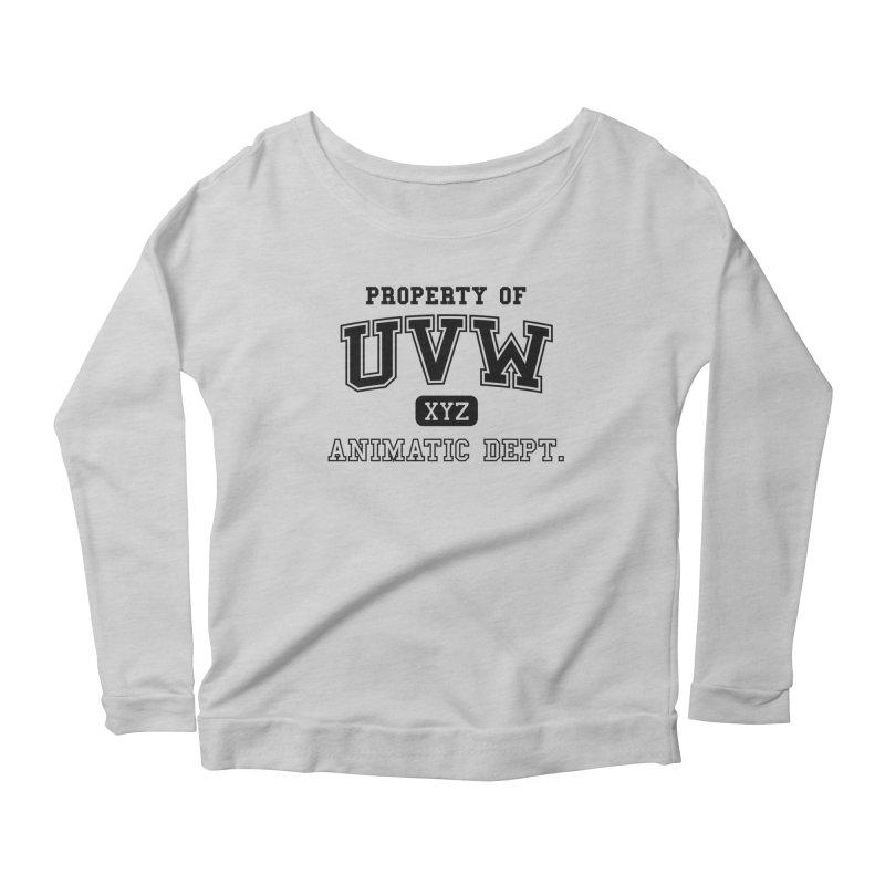 Property of UVW Women's Longsleeve Scoopneck  by Teeframed