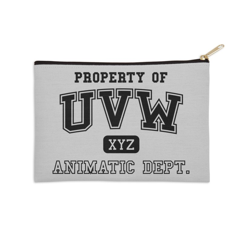 Property of UVW Accessories Zip Pouch by Teeframed