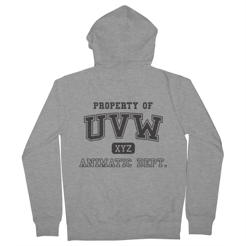 Property of UVW Men's Zip-Up Hoody by Teeframed