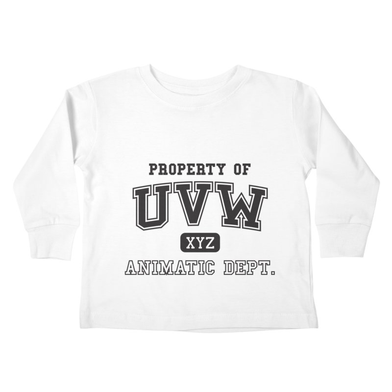 Property of UVW Kids Toddler Longsleeve T-Shirt by Teeframed