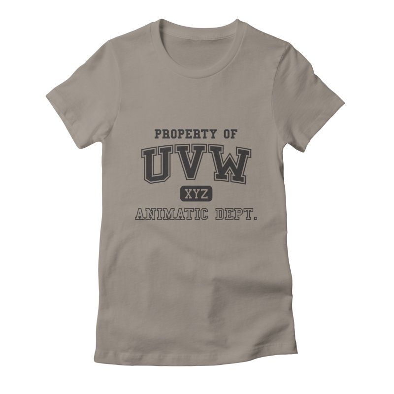 Property of UVW Women's Fitted T-Shirt by Teeframed