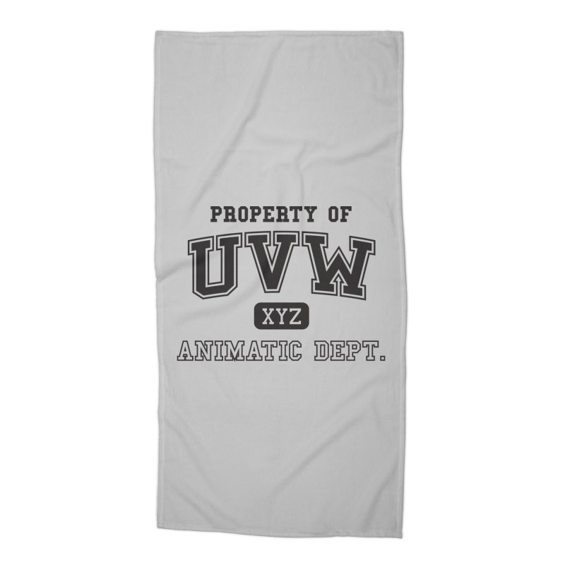 Property of UVW Accessories Beach Towel by Teeframed
