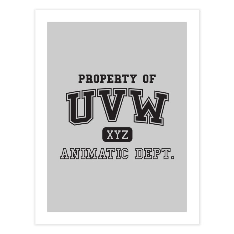 Property of UVW Home Fine Art Print by Teeframed