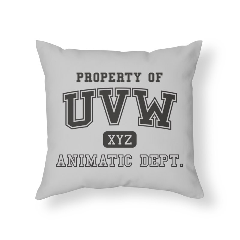 Property of UVW Home Throw Pillow by Teeframed