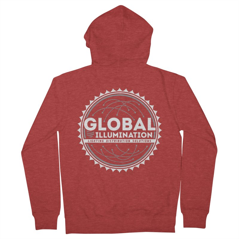 Global Illumination Men's French Terry Zip-Up Hoody by Teeframed