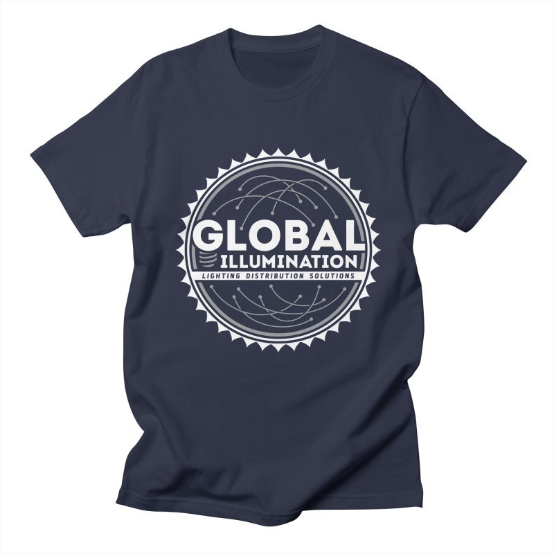 Global Illumination in Men's Regular T-Shirt Navy by Teeframed