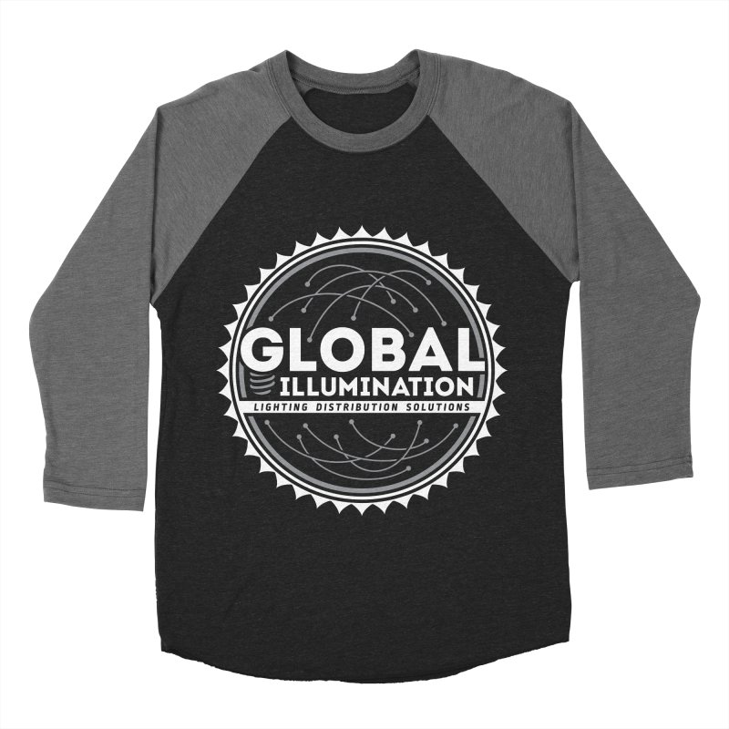 Global Illumination Men's Baseball Triblend Longsleeve T-Shirt by Teeframed