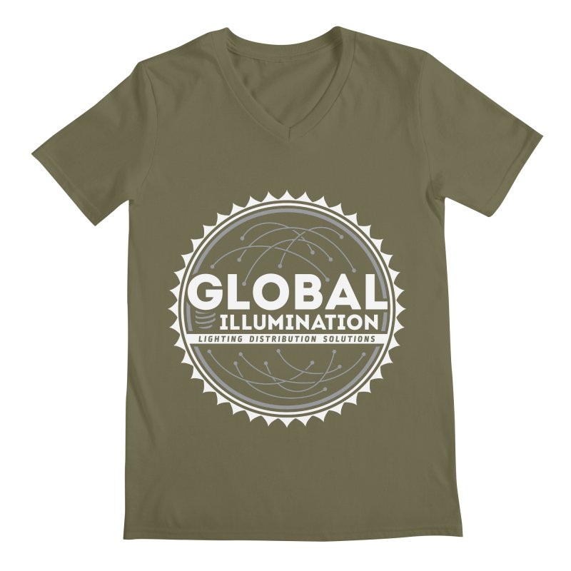 Global Illumination Men's Regular V-Neck by Teeframed