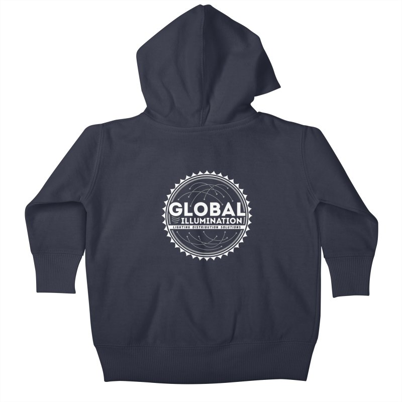 Global Illumination Kids Baby Zip-Up Hoody by Teeframed