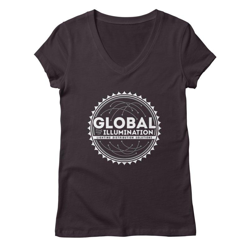 Global Illumination Women's Regular V-Neck by Teeframed