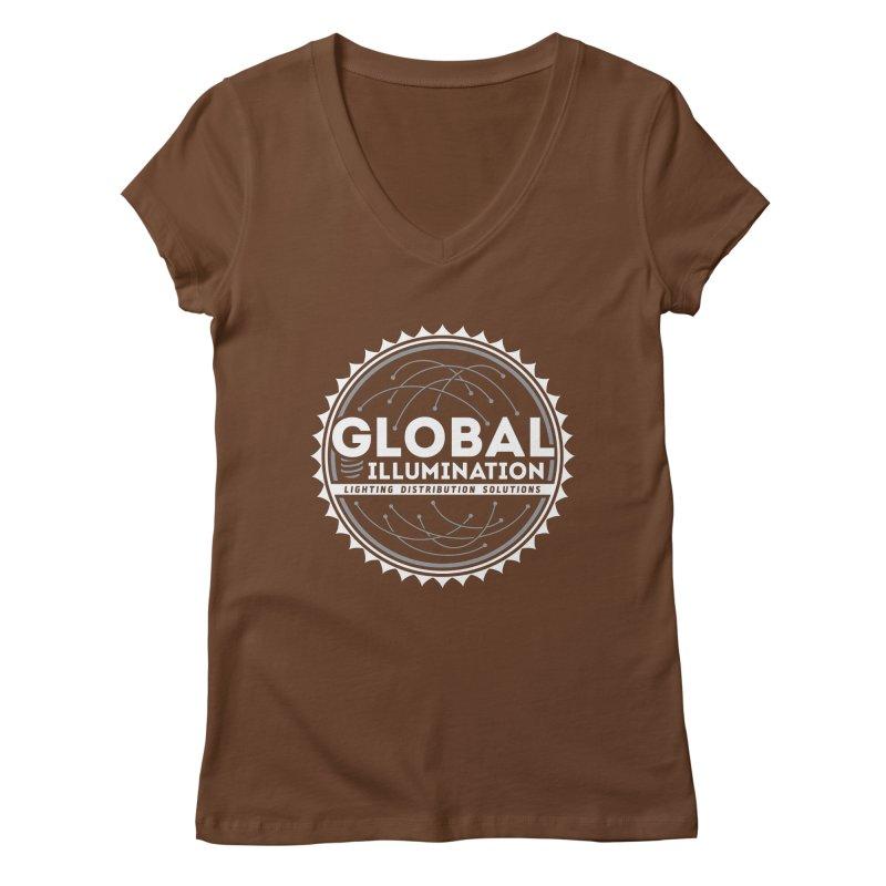 Global Illumination Women's V-Neck by Teeframed