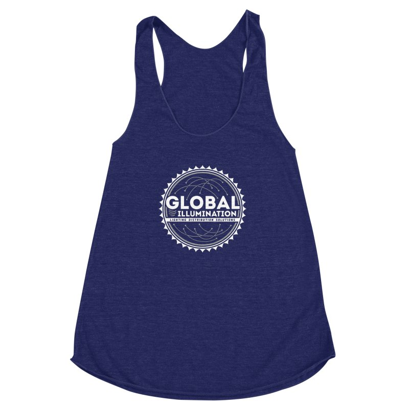 Global Illumination Women's Racerback Triblend Tank by Teeframed