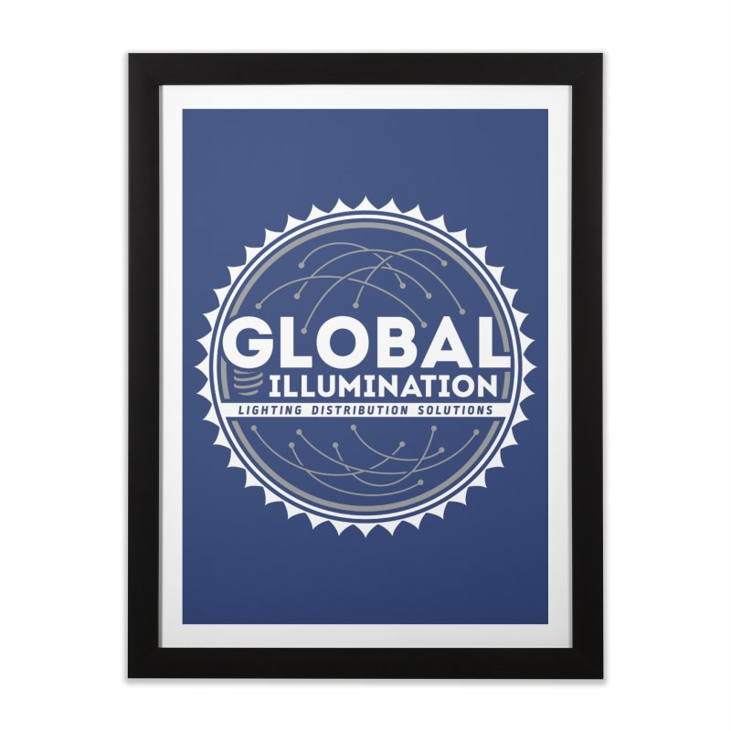 Global Illumination Home Framed Fine Art Print by Teeframed