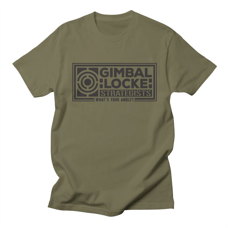 Gimbal Locke Strategists in Men's T-shirt Olive by Teeframed