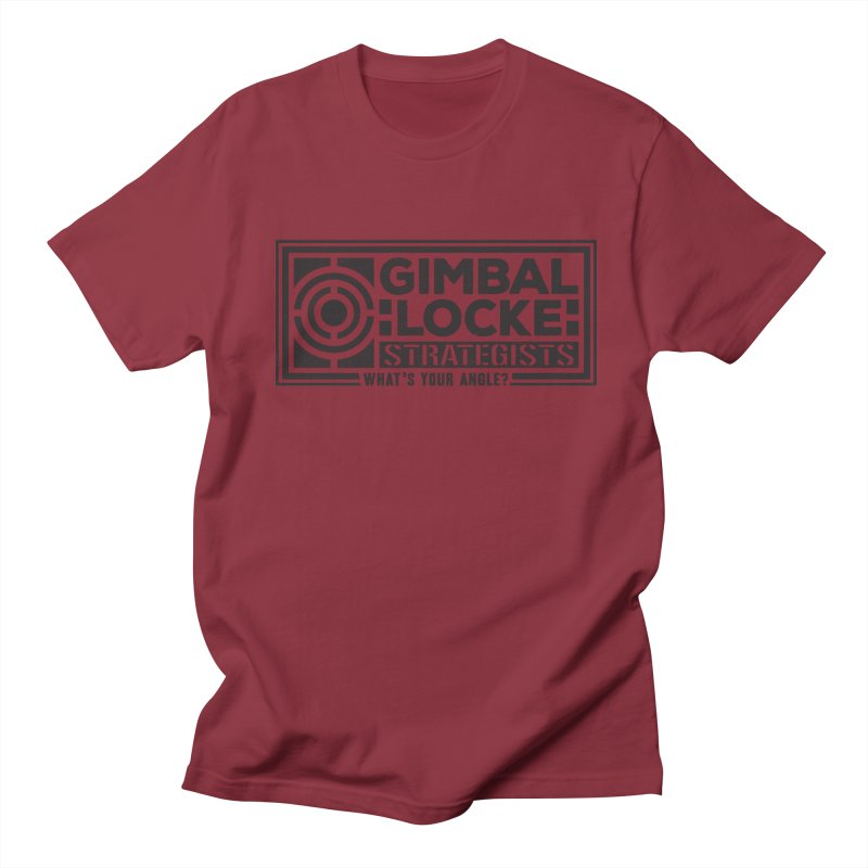 Gimbal Locke Strategists Men's Regular T-Shirt by Teeframed