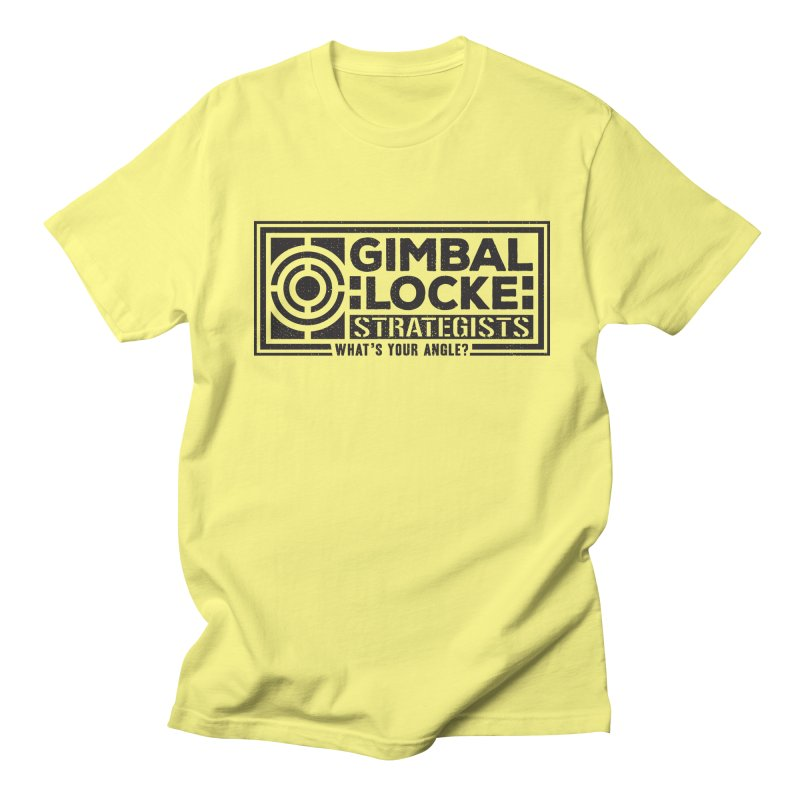 Gimbal Locke Strategists Men's Regular T-Shirt by Teeframed