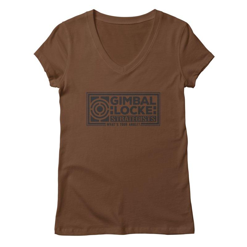 Gimbal Locke Strategists Women's Regular V-Neck by Teeframed