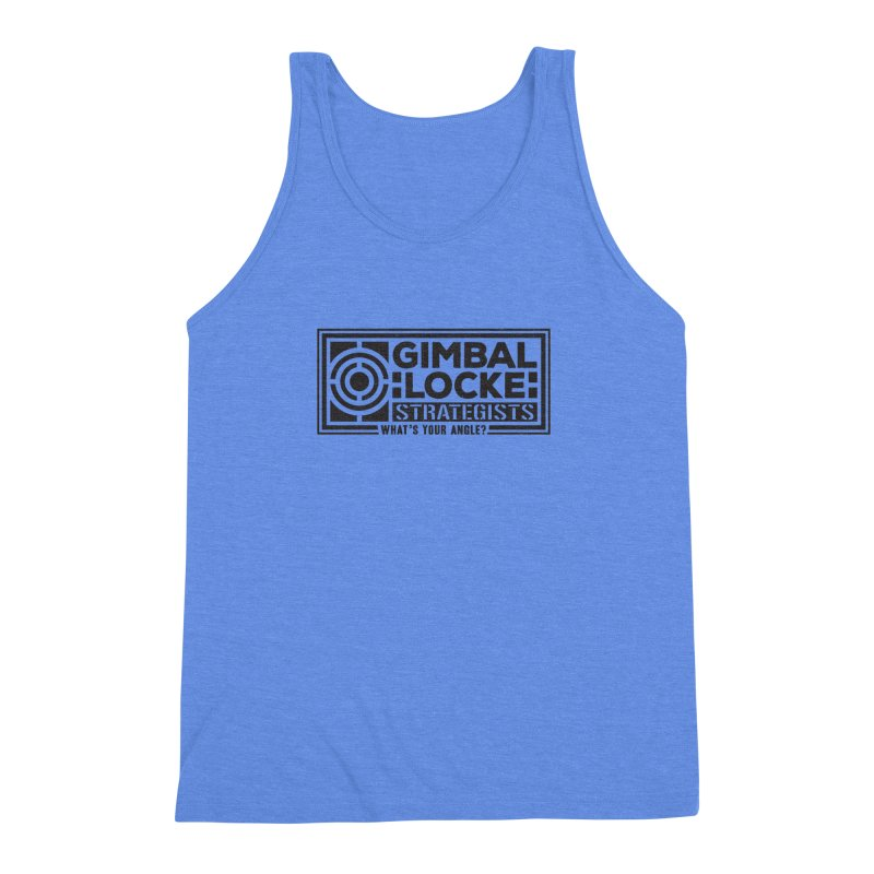 Gimbal Locke Strategists Men's Triblend Tank by Teeframed