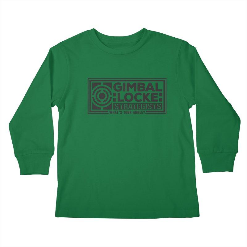Gimbal Locke Strategists Kids Longsleeve T-Shirt by Teeframed