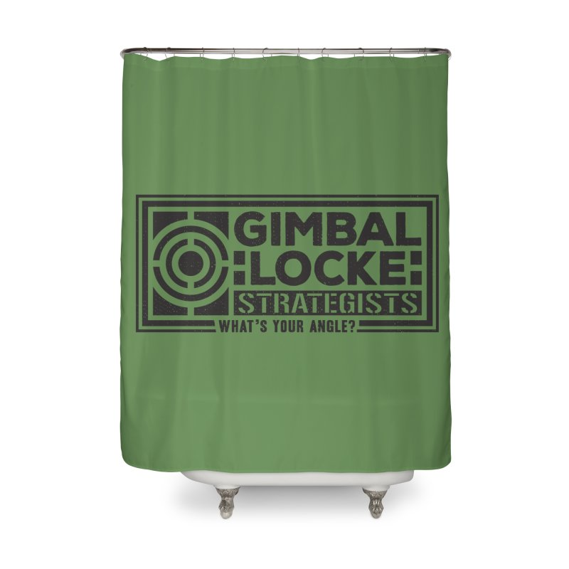 Gimbal Locke Strategists Home Shower Curtain by Teeframed