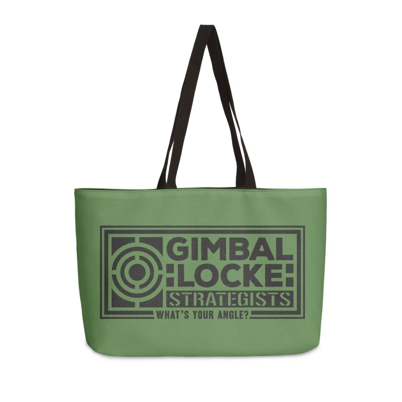 Gimbal Locke Strategists Accessories Weekender Bag Bag by Teeframed