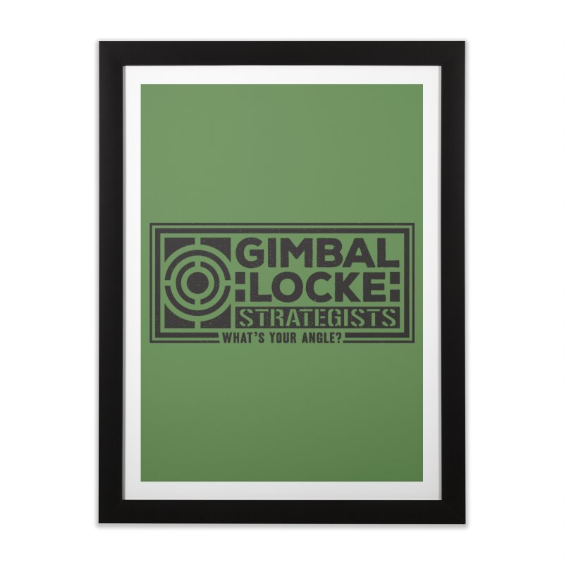 Gimbal Locke Strategists Home Framed Fine Art Print by Teeframed