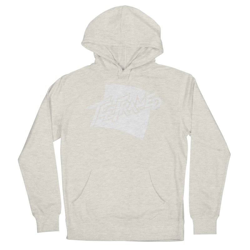 Teeframed - White Logo Women's French Terry Pullover Hoody by Teeframed