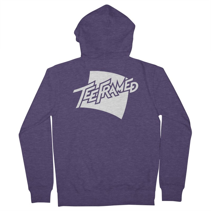 Teeframed - White Logo Men's Zip-Up Hoody by Teeframed