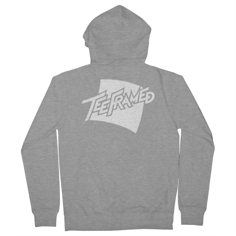Teeframed - White Logo Men's French Terry Zip-Up Hoody by Teeframed