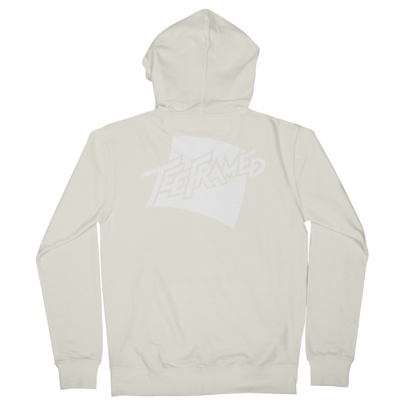 Teeframed - White Logo Men's French Terry Zip-Up Hoody by Teeframed