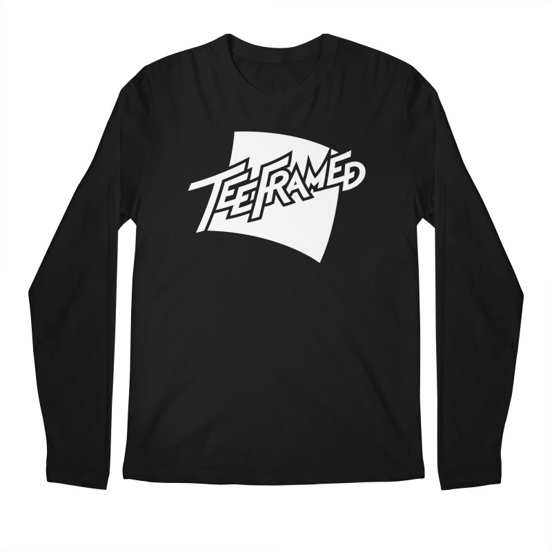 Teeframed - White Logo Men's Regular Longsleeve T-Shirt by Teeframed