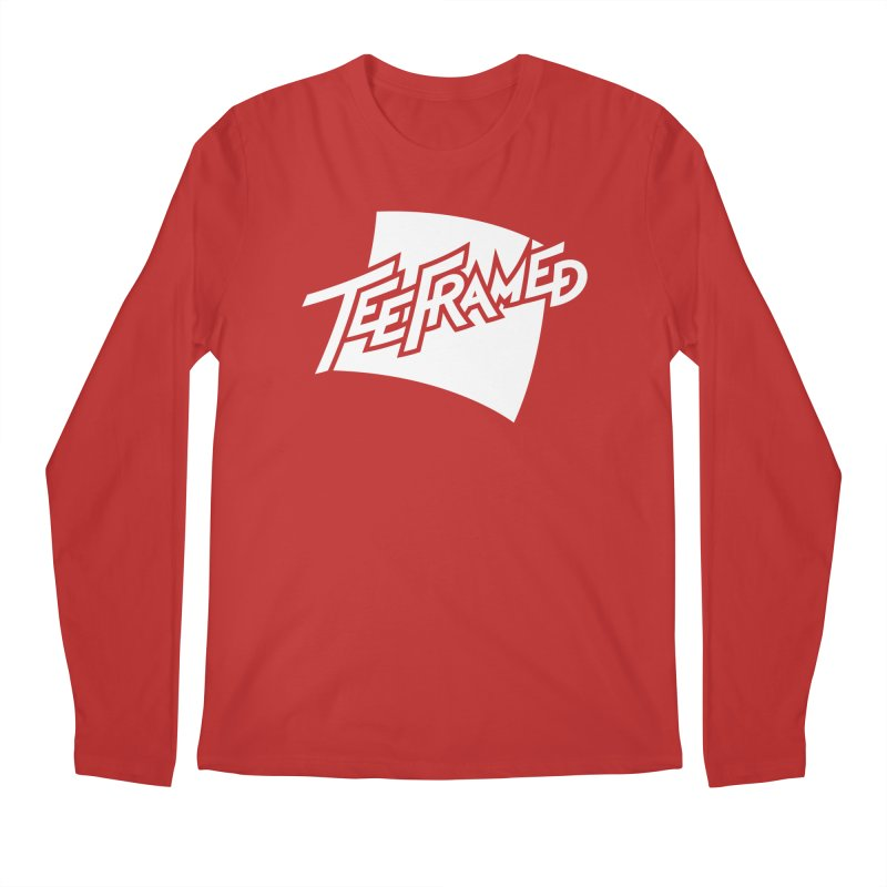 Teeframed - White Logo Men's Regular Longsleeve T-Shirt by Teeframed