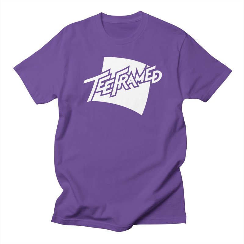 Teeframed - White Logo Men's Regular T-Shirt by Teeframed