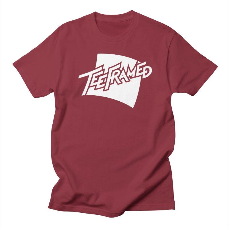Teeframed - White Logo Men's T-Shirt by Teeframed