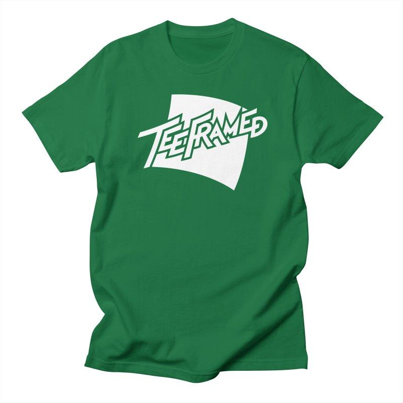 Teeframed - White Logo Women's Regular Unisex T-Shirt by Teeframed