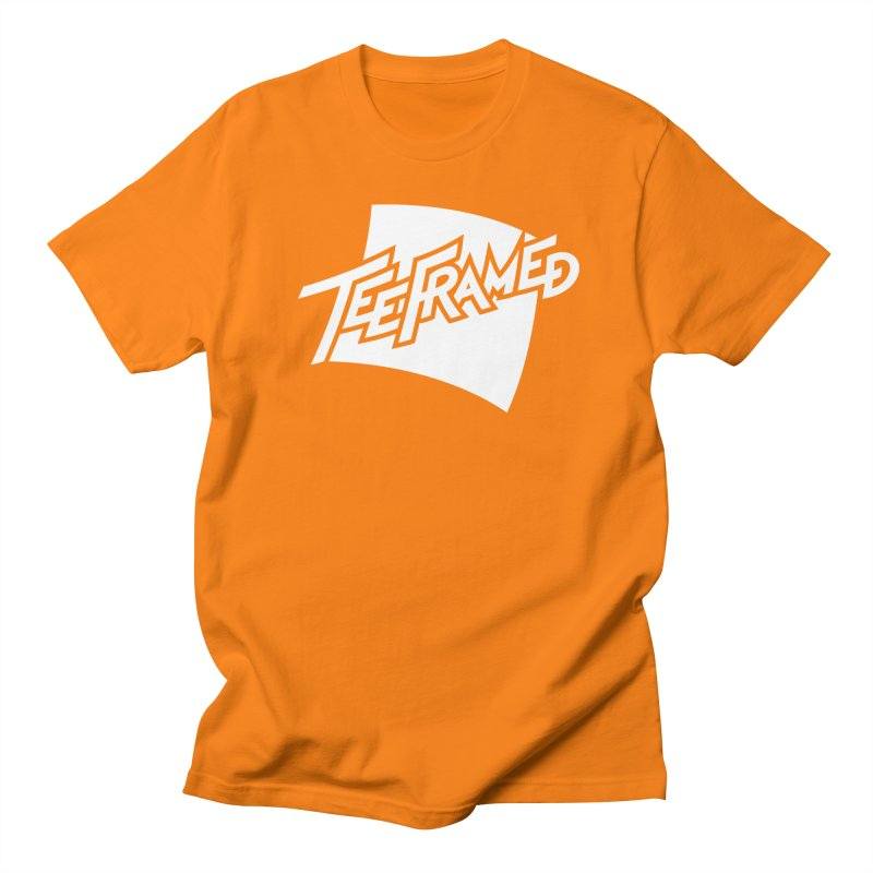 Teeframed - White Logo Men's Regular T-Shirt by Teeframed